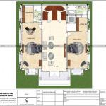 6 Mặt bằng công năng tầng 3 biệt thự lâu đài cổ điển tại lạng sơn sh btld 0036