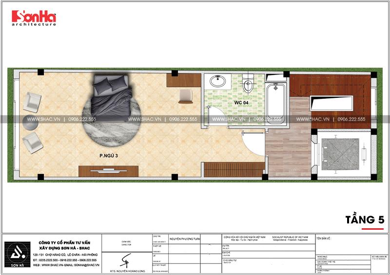Thiết kế nhà phố hiện đại mặt tiền 4m 7 tầng tại Hà Nội – SH NOD 0186 6