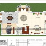 7 Mặt bằng công năng tầng 1 biệt thự pháp có sân vườn tại hưng yên sh btp 0122
