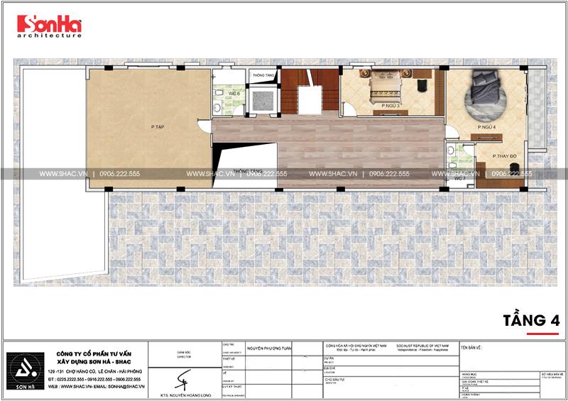 Thiết kế nhà phố hiện đại kết hợp kinh doanh 5 tầng tại Hà Nam – SH NOD 0185 7