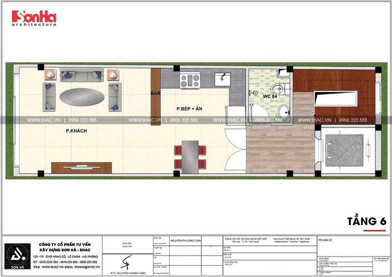 Thiết kế nhà phố hiện đại mặt tiền 4m 7 tầng tại Hà Nội – SH NOD 0186 7
