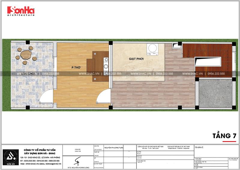 Thiết kế nhà phố hiện đại mặt tiền 4m 7 tầng tại Hà Nội – SH NOD 0186 8