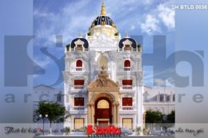 BÌA kiến trúc biệt thự lâu đài pháp đẹp tại lạng sơn sh btld 0036