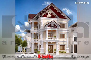 BÌA kiến trúc biệt thự pháp 2 mặt tiền đẹp tại hải phòng sh btp 0121