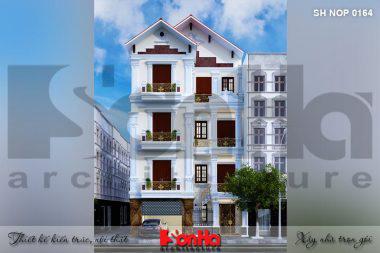 BÌA thiết kế kiến trúc nhà ống cổ điển đẹp 4 tầng tại nam định sh nop 0164
