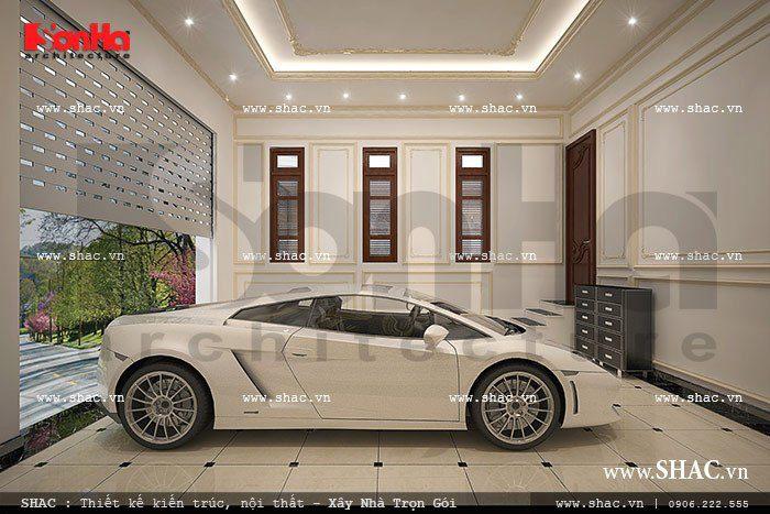 Gara oto trong nhà thiết kế phù hợp với mọi nhà