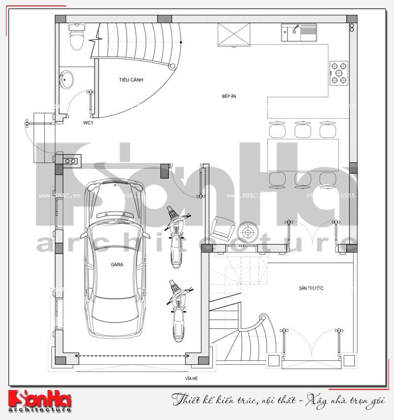 Giải pháp thiết kế gara oto trong nhà.