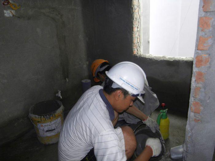 Khắc phục nền nhà vệ sinh cao hơn nền nhà
