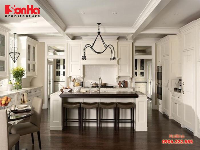 Một trong nhưng cách trang trí nội thất bếp được nhiều người yêu thích