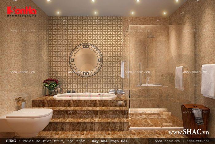 Nền nhà vệ sinh cao hơn nền phòng khách bếp