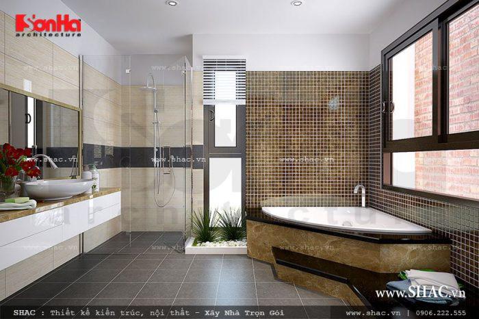 Nền nhà vệ sinh không cao hơn nền nhà