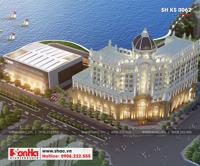 1.1 Thiết kế khách sạn cổ điển 5 sao tại phú yên sh ks 0062