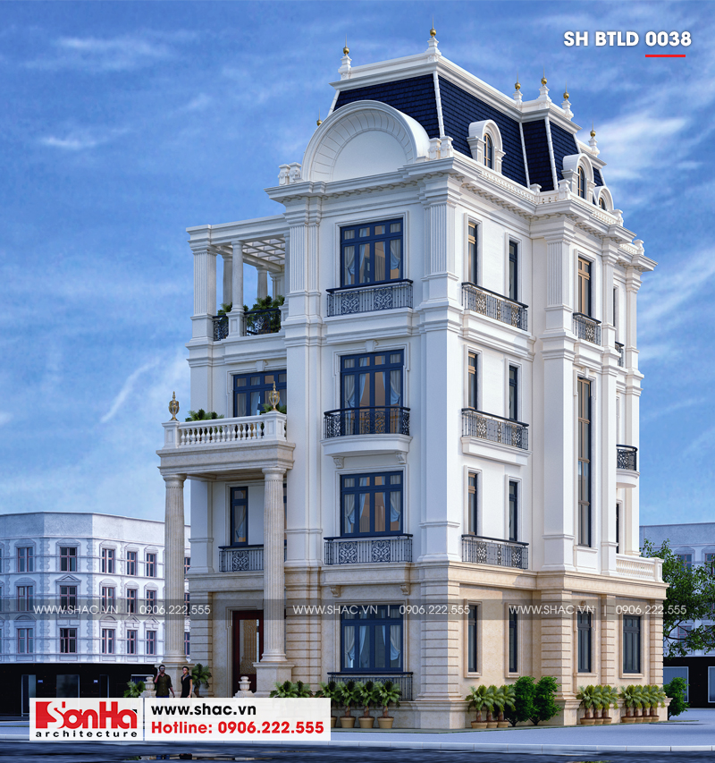 Biệt thự lâu đài châu Âu 4 tầng diện tích 175m2 tại Đà Nẵng – SH BTLD 0038 2