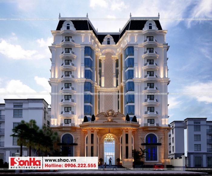 Mẫu thiết kế khách sạn sang trọng 4 sao kiến trúc tân cổ điển tại Phú Quốc