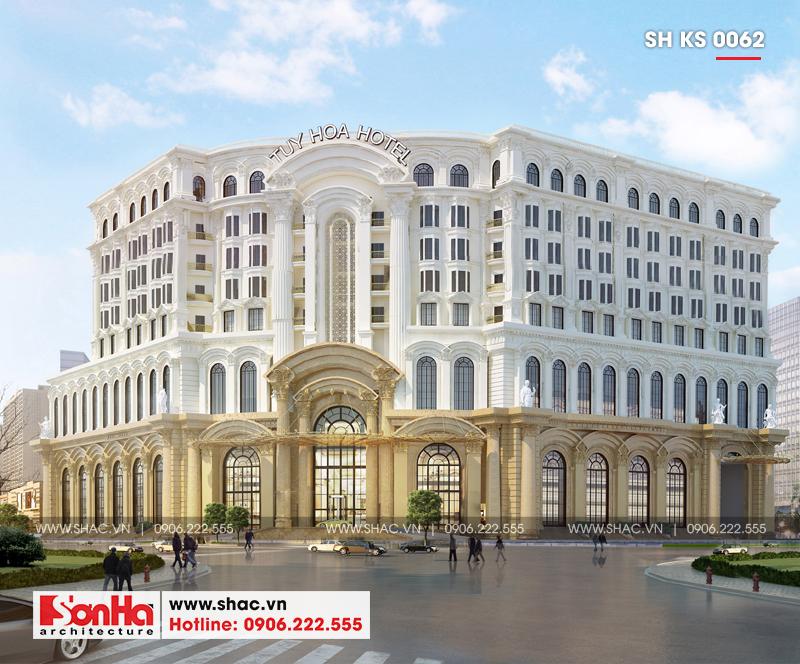 Tỉnh Phú Yên động thổ thêm một dự án trọng điểm của năm – dự án Trung tâm TMDV ô tô, khách sạn và văn phòng cho thuê Dũng Tiến do Sơn Hà Architecture thiết kế – SH KS 0062 1