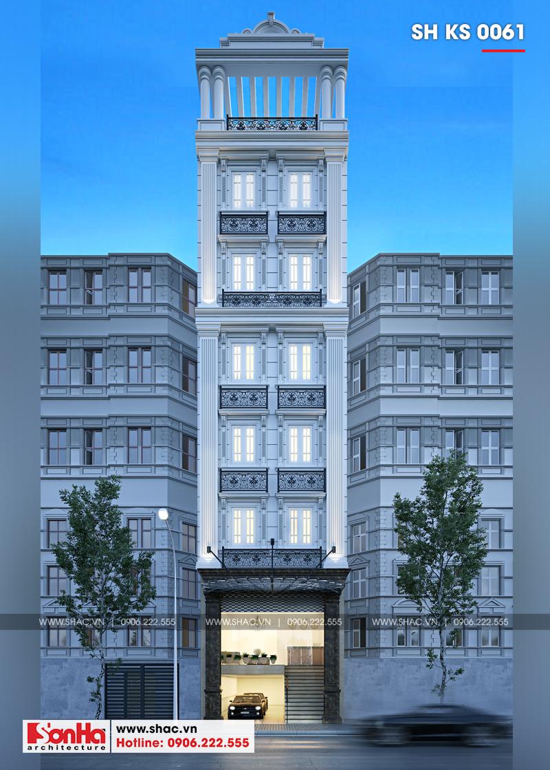 Thiết kế khách sạn mini 2 sao tân cổ điển đẹp tại Nam Định - SH KS 0061 1