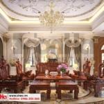 1 Thiết kế nội thất phòng khách 1 biệt thự tân cổ điển khu đô thị vinhomes hải phòng sh btp 0125