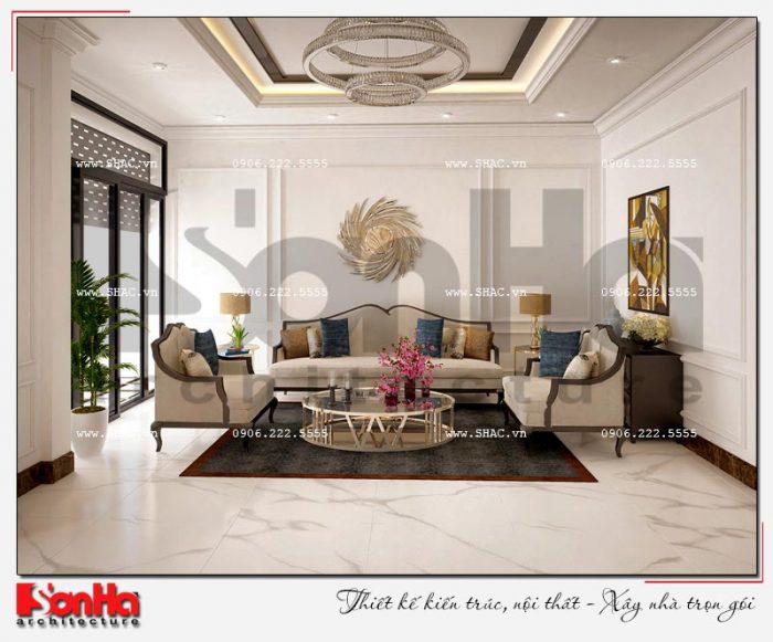 Thiết kế nội thất phòng khách phong cách tân cổ điển