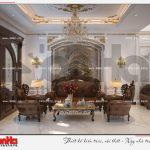 1 Thiết kế nội thất phòng khách biệt thự tân cổ điển khu đô thị vinhomes hải phòng