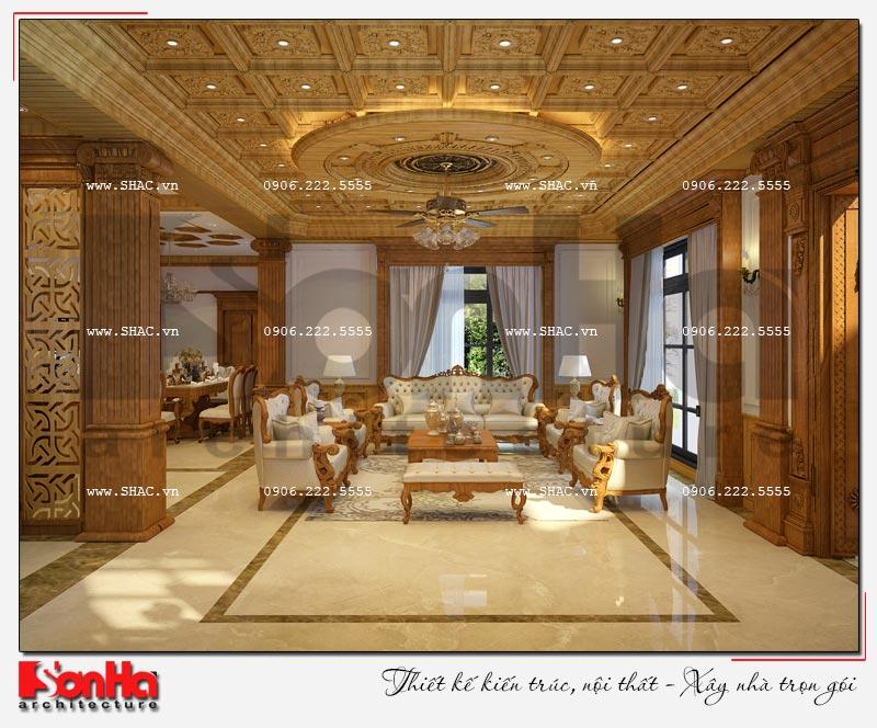 Cách sử dụng gỗ tự nhiên trong thiết kế nội thất biệt thự Vinhomes Imperia Hải Phòng 1