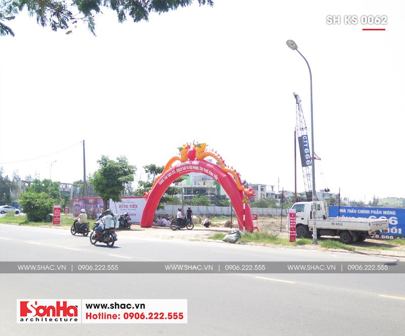Tỉnh Phú Yên động thổ thêm một dự án trọng điểm của năm – dự án Trung tâm TMDV ô tô, khách sạn và văn phòng cho thuê Dũng Tiến do Sơn Hà Architecture thiết kế – SH KS 0062 15