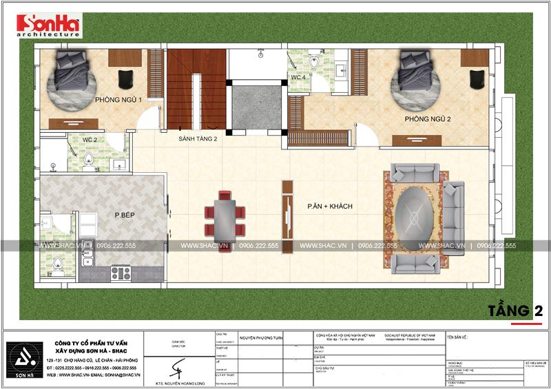 Biệt thự kiểu Pháp 3 tầng kết hợp kinh doanh diện tích 162m2 tại Quảng Ninh – SH BTP 0124 10