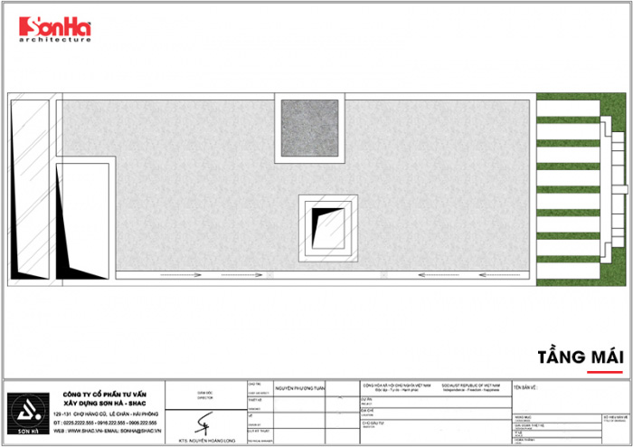10 Mặt bằng công năng tầng mái khách sạn tân cổ điển 8 tầng đẹp tại nam định sh ks 0060