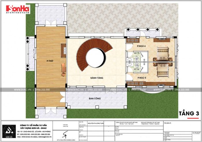 Mặt bằng công năng tầng 3 biệt thự tân cổ điển tại VENICE Vinhomes Imperia Hải Phòng