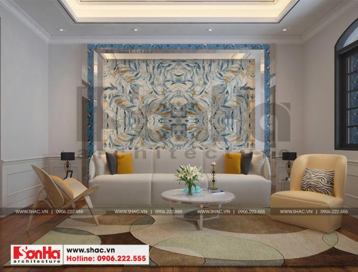 Phương án thiết kế phòng sinh hoạt chung biệt thự tân cổ điển Vinhomes đẹp mắt