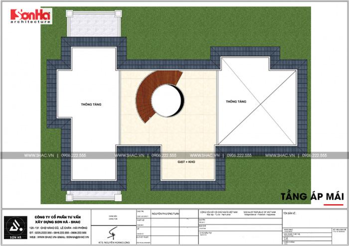 Mặt bằng tầng áp mái biệt thự tân cổ điển tại VENICE Vinhomes Imperia Hải Phòng