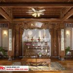 12 Mẫu nội thất phòng thờ biệt thự tân cổ điển đẹp khu đô thị vinhomes hải phòng sh btp 0125