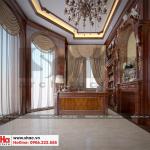 13 Thiết kế nội thất phòng làm việc biệt thự tân cổ điển 3 tầng khu đô thị vinhomes hải phòng sh btp 0125