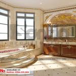15 Thiết kế nội thất phòng tắm wc biệt thự song lập khu đô thị vinhomes hải phòng sh btp 0125