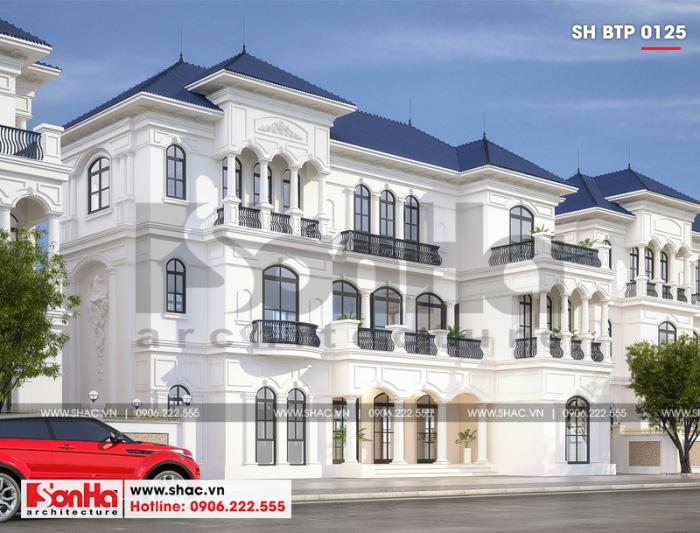 Kiến trúc giản dị nhưng ấn tượng của ngôi biệt thự song lập 3 tầng tân cổ điển châu Âu