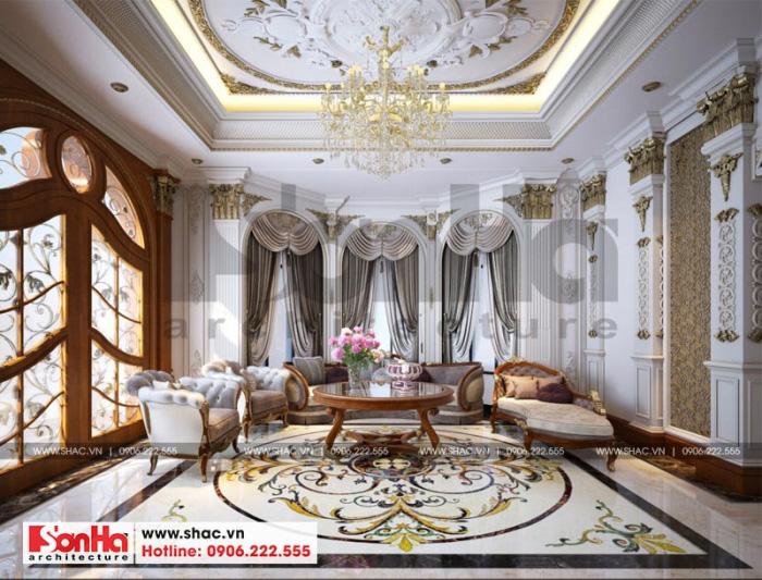 Không gian phòng khách đẹp mắt đến từng tiểu tiết với thiết kế phong cách châu Âu