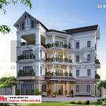 2 Mẫu thiết kế biệt thự 4 tầng đẹp tại hải phòng sh btp 0123