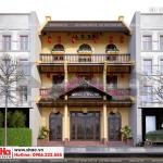 2 Mẫu thiết kế biệt thự cổ điển 3 tầng đẹp tại quảng ninh sh btp 0126