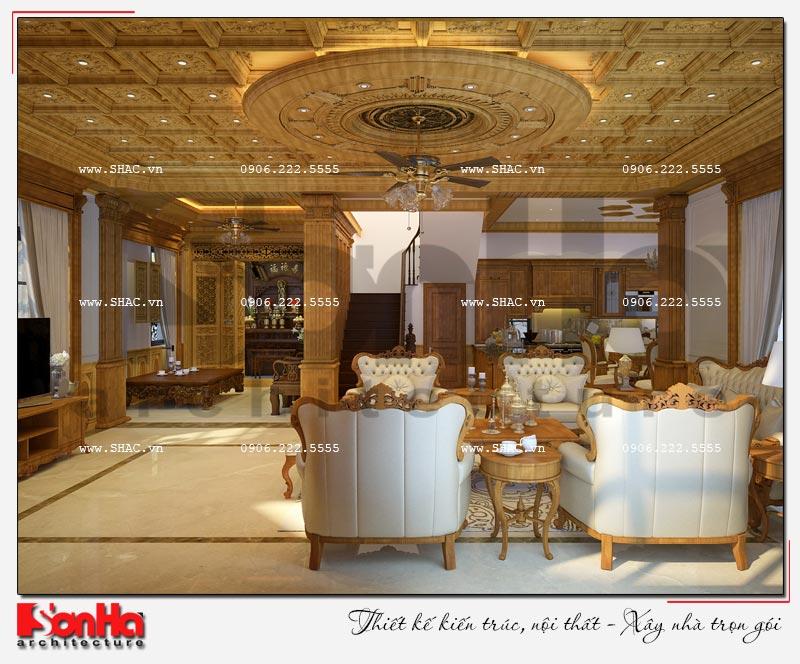 Cách sử dụng gỗ tự nhiên trong thiết kế nội thất biệt thự Vinhomes Imperia Hải Phòng 2