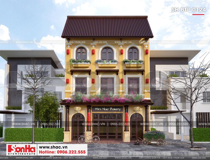 Biệt thự kiểu Pháp 3 tầng kết hợp kinh doanh diện tích 162m2 tại Quảng Ninh – SH BTP 0124 5