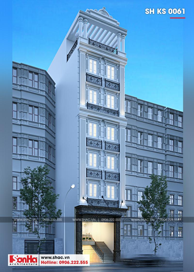 Thiết kế khách sạn mini 2 sao tân cổ điển đẹp tại Nam Định - SH KS 0061 2