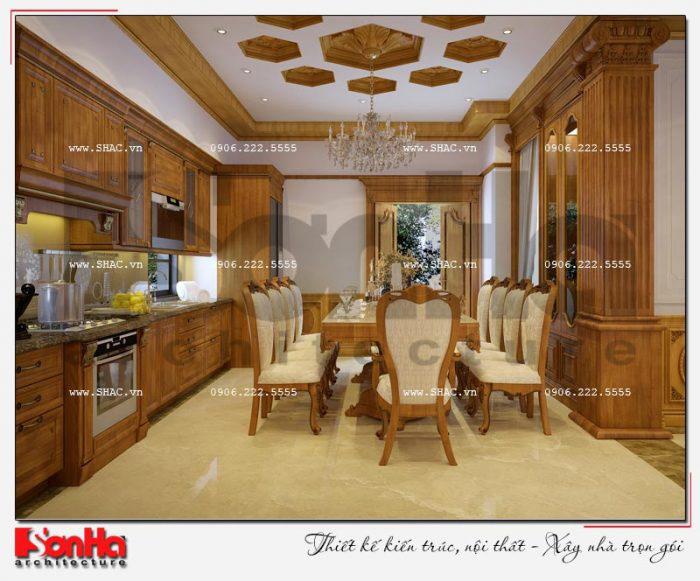 3 Thiết kế nội thất phòng bếp ăn biệt thự tân cổ điển khu đô thị vinhomes hải phòng