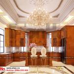 3 Thiết kế nội thất phòng bếp biệt thự tân cổ điển 3 tầng khu đô thị vinhomes hải phòng sh btp 0125