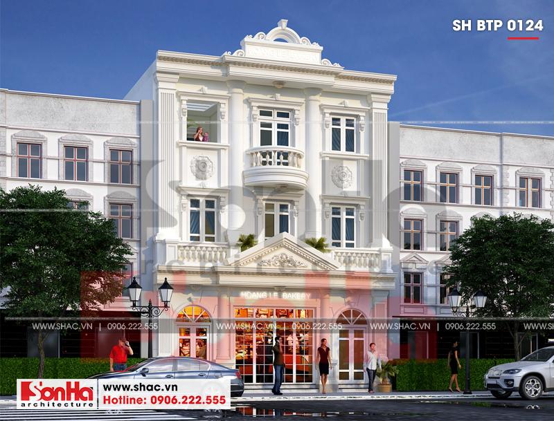 Biệt thự kiểu Pháp 3 tầng kết hợp kinh doanh diện tích 162m2 tại Quảng Ninh – SH BTP 0124 6
