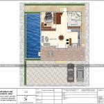 4 Mặt bằng công năng tầng 1 biệt thự 2 tầng mái thái tại hải phòng sh btd 0066