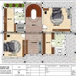 4 Mặt bằng công năng tầng 2 biệt thự lâu đài 4 tầng tại đà nẵng sh btld 0038