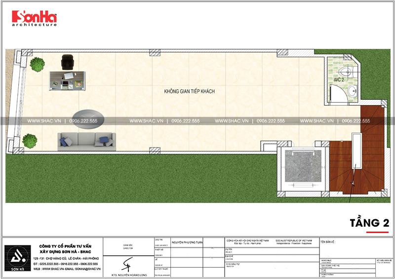 Mẫu nhà phố hình chữ L kiến trúc Pháp kết hợp kinh doanh tại Hà Nội - SH NOP 0168 4