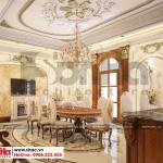 4 Mẫu nội thất phòng ăn biệt thự tân cổ điển có sân vườn khu đô thị vinhomes hải phòng sh btp 0125