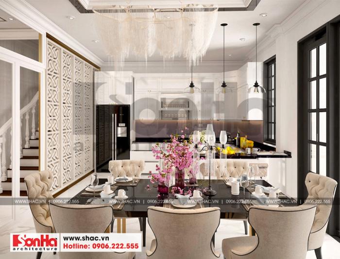 Thiết kế phòng bếp ăn biệt thự Vinhomes Imperia chinh phục mọi ánh nhìn