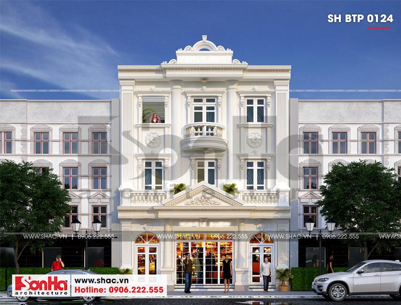 Biệt thự kiểu Pháp 3 tầng kết hợp kinh doanh diện tích 162m2 tại Quảng Ninh – SH BTP 0124 7