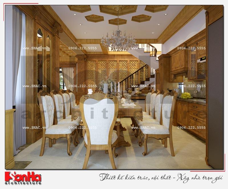Cách sử dụng gỗ tự nhiên trong thiết kế nội thất biệt thự Vinhomes Imperia Hải Phòng 4